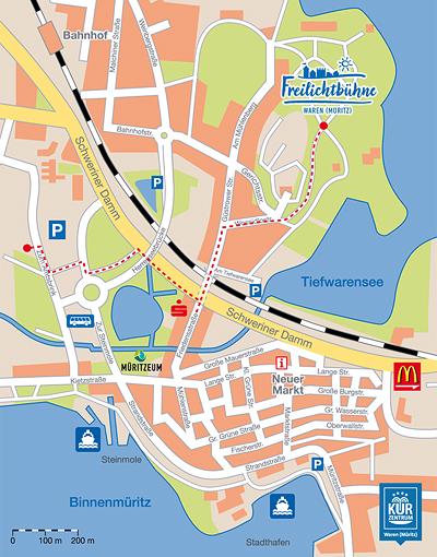 Stadtplan Waren